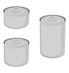 Canned food set vector image