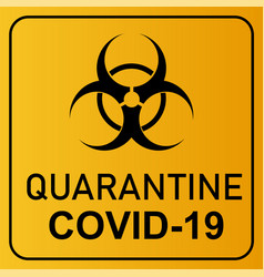 Coronavirus covid 19 quarantine and breakout alert vector