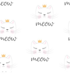 Cute princess pattern vector