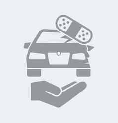 Damaged car repair services vector