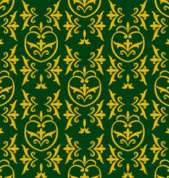 damask green vector image