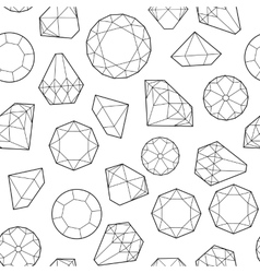diamonds and crystals vector image