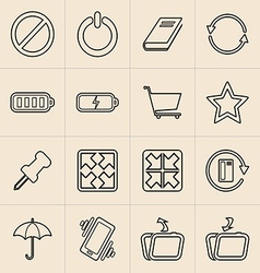 Digital Marketing Line Icons vector
