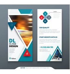 Dl flyer design teal template dl flyer banner vector