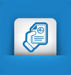 Document with excellent results vector