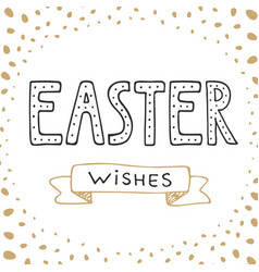 easter wishes typography design elements vector image