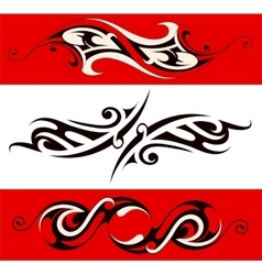 Ethnic tattoo shape vector image