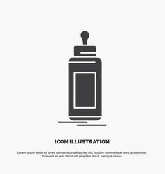 Feeder bottle child baby milk icon glyph gray vector