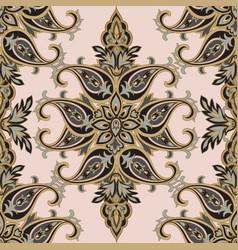Floral pattern flourish tiled oriental ethnic vector