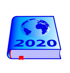 Globe book 2020 vector
