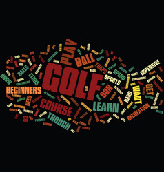 Golf as it was text background word cloud concept vector