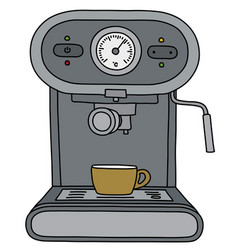 gray electric espresso maker vector image