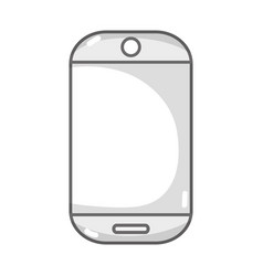 Grayscale technology smartphone electronic to call vector