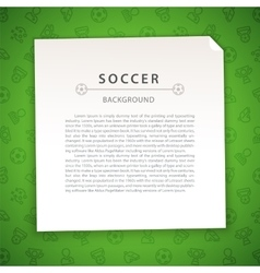 Green Soccer Background with Copy Space vector