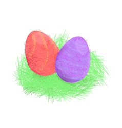 Hand Drawn Easter vector image