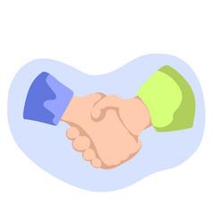 handshaking flat style vector image