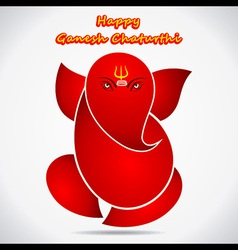 Happy Ganesha chaturthi festival greeting vector