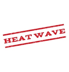 Heat Wave Watermark Stamp vector image