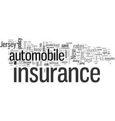 How to get the best rates on automobile insurance vector