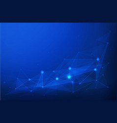 internet connection blue polygonal background vector image