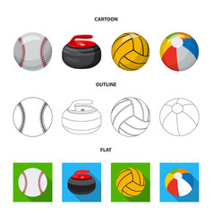 Isolated object of sport and ball sign set of vector