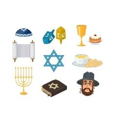 Jewish symbols set vector image