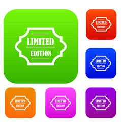 Limited edition set collection vector
