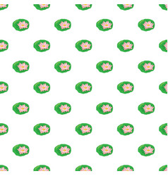 Lotus flower pattern vector