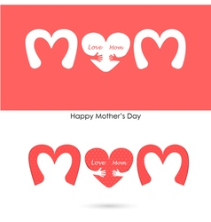 Love mom sign vector