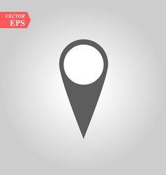 map marker icon in black point vector image