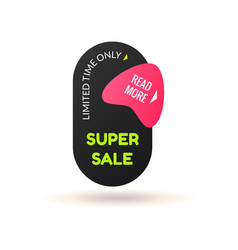 modern simple sale badge template vector image