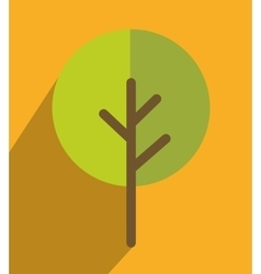nature ecology tree icon design vector image