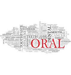 oral word cloud concept vector image