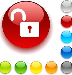 Padlock button vector image
