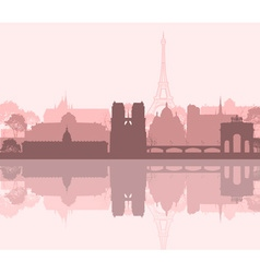 Paris City Landscape vector image