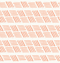 peach pink basketweave stripes seamless pattern vector image