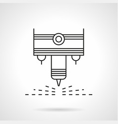 plasma laser flat line icon vector image