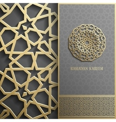 Ramadan Kareem greeting cardinvitation islamic vector
