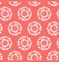 Red shibori monochrome octagon wheels vector
