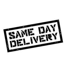 Same Day Delivery rubber stamp vector