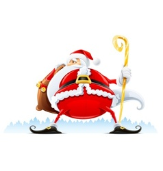 santa claus with sack vector image