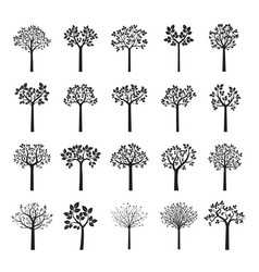 Set black trees vector
