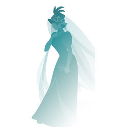 Silhouette woman dressed in veils and ancient vector