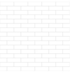Simple brick wall contour pattern - minimalistic vector