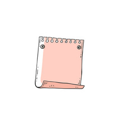 single blank note paper in vector image