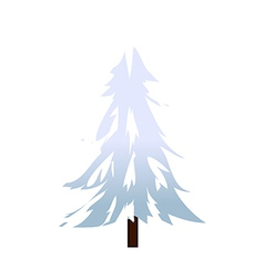 Snow covered tree vector