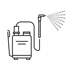 Spray tool high pressure washer with sprayer vector
