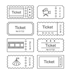 Ticket set icon vector