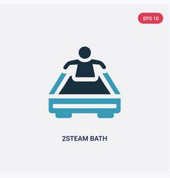Two color 2steam bath icon from sauna concept vector