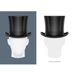 vintage classic top hat vector image